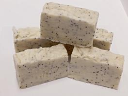 Coconut Handmade Natural Soap Bar Poppy Seeds Homemade