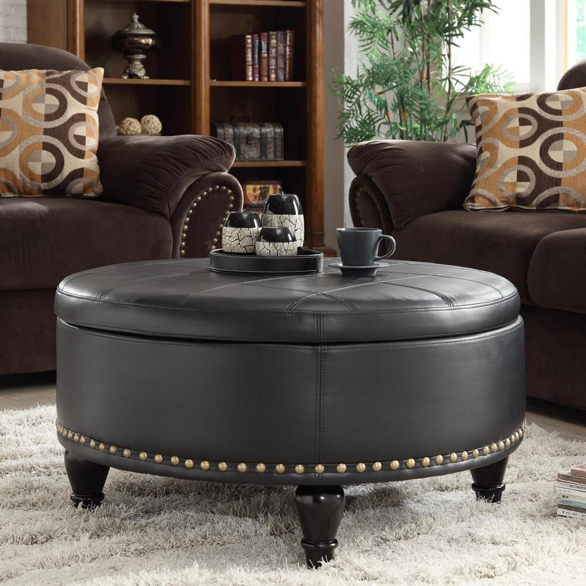 coffee table amusing round leather