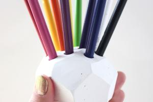 Colored Pencil Holder Symbolizes Playfulness Mini