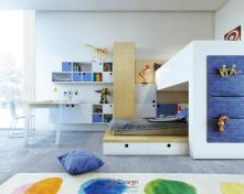 Colorful Kids Room Designs Plenty Storage Space