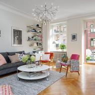 Colorful Scandinavian Apartment Captures Inspiring Details