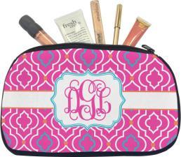 Colorful Trellis Makeup Bag Medium Personalized