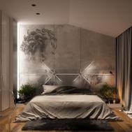 Concrete Wall Designs Striking Bedrooms