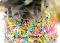 Confetti Pineapple Diy Centerpiece Mod Podge Rocks