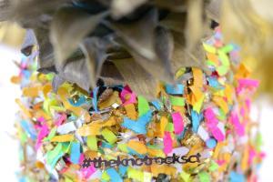 Confetti Pineapple Diy Centerpiece Mod Podge Rocks