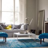 Contemporary Aquatic Living Room Design Blue Sofa