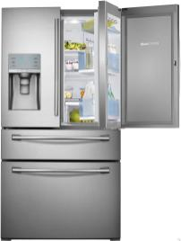 Contemporary Glass Door Fridge Freezer Home