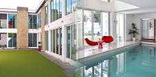 Contemporary Pool House Celebration Cottages Hen Party