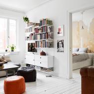 Cool Modern Minimalist College Apartment Living Room