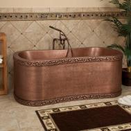 Copper Freestanding Bathtubs Steampunk Furniture