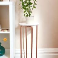 Copper Leg Plant Stand Surznick Common Room
