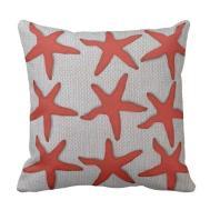 Coral Tan Neutral Burlap Designed Throw Pillow Zazzle