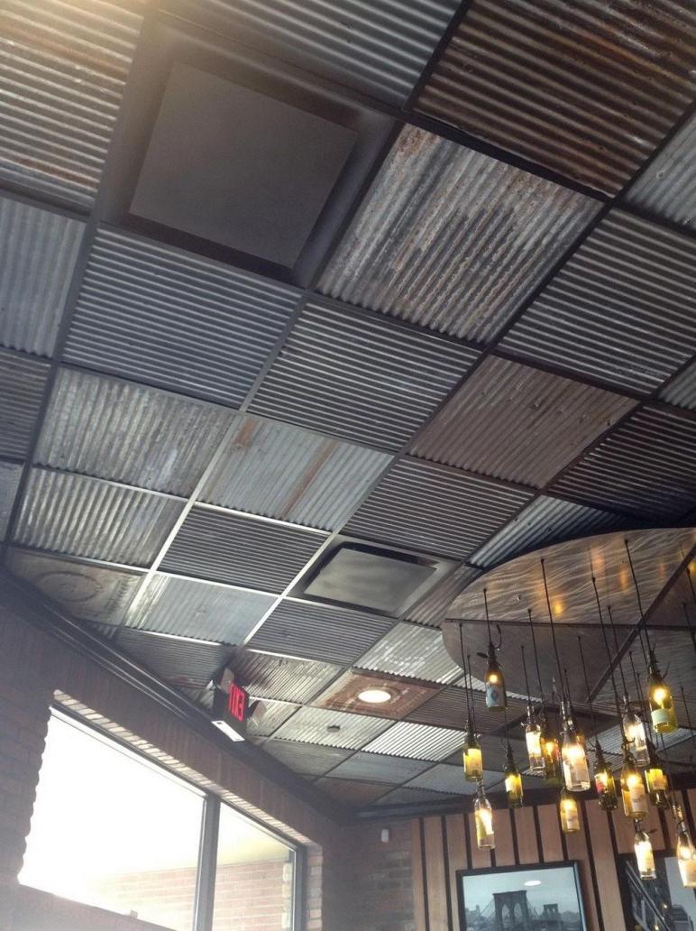 Corrugated Metal Drop Ceiling Tiles Ceilling