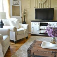 Cottage Chic Living Rooms Small Farmhouse