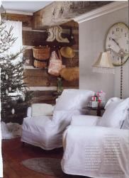 Country Christmas Decor Ideas Heart Shabby Chic