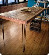Country Style Diy Industrial Console Table Made