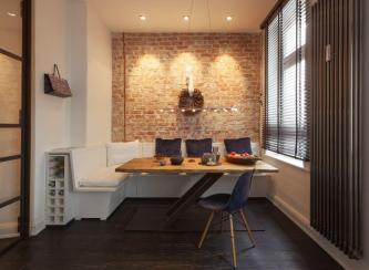 Cozy Renovated Apartment Rustic Brick Walls
