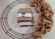 Craft Patch Easy Burlap Bubble Wreath Tutorial