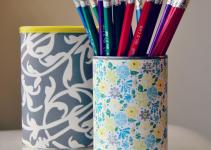 Crafting Budget Diy Pencil Holder Using Upcycled Can