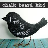 Create Chalk Board Bird Shaken Together