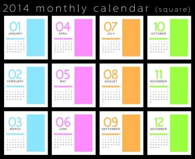 Creative 2014 Monthly Calendar Files Elsoar