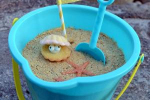 Creative Cake Diy Beach Bucket Edible Sand