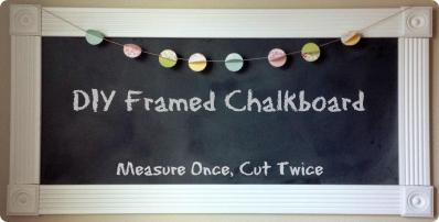Creative Framed Chalkboard Diy Beautiful Home Design Top