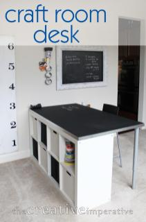 Creative Imperative Craft Room Desk Shelves