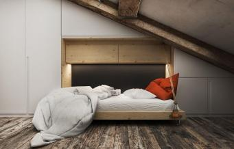 Creative Top Floor Rooms Wood Accents