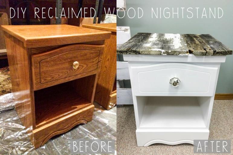 Creative Variety Diy Reclaimed Wood Nightstands