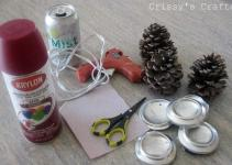 Crissy Crafts Pinecone Candle Holder