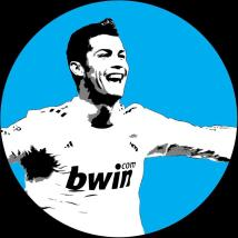 Cristiano Ronaldo Real Madrid Vinyl Record Wall