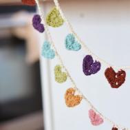 Crochet Mini Hearts Bunting Banner Diy Mommy