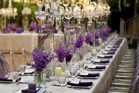 Crystal Chandeliers Beautiful Purple Centerpieces