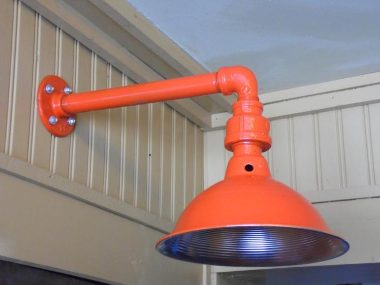 Custom Colored Light Fixture Sconce Barn Industrial