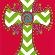 Custom Decor Flag Chevron Cross Decorative