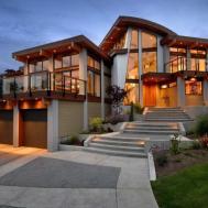 Custom Home Designer Glass Wall Ideas Interior