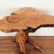 Custom Live Edge Spalted Maple Table Saratoga