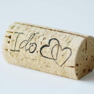 Custom Printed Wine Cork Place Card Holders Set