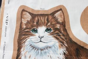 Cut Sew Cat Pillow Plush Diy Craft Tabby Kittie Vip