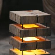Cute Simple Wooden Floor Lamp Lights