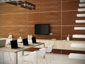 Dark Walnut Wood Wall Panels