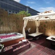 Deck Hot Tub Unique Privacy Design Attractive