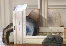 Decor Natural Geode Bookends Bookcase Accessories
