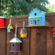 Decorate Fence Birdhouses