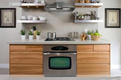 Decorate Open Kitchen Shelves