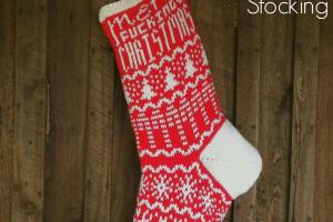 Decoration Misfit Christmas Stocking Knitting Pattern