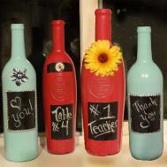 Decorative Painted Wine Bottle Allfreechristmascrafts