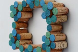 Design Fixation Easy Diy Painted Cork Wreath