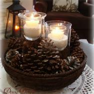 Dining Delight Winter Living Room White Brown Cream